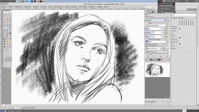 Pencil Draw GIMP plugin