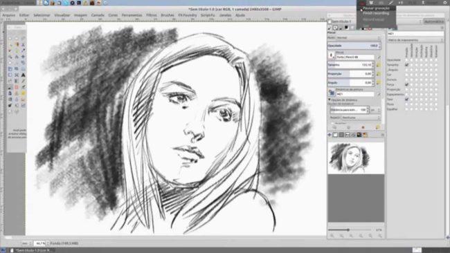 Pencil Draw GIMP plugin