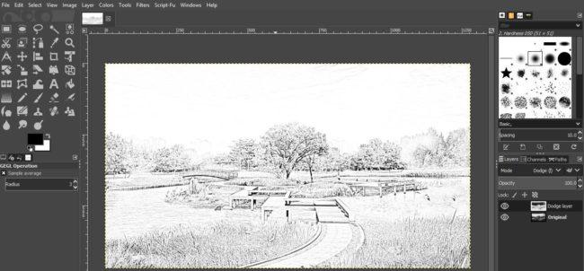Quick Sketch GIMP PLUGIN
