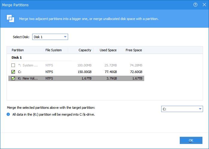 Extend Windows 7 System Partition via AOMEI Partition Assistant