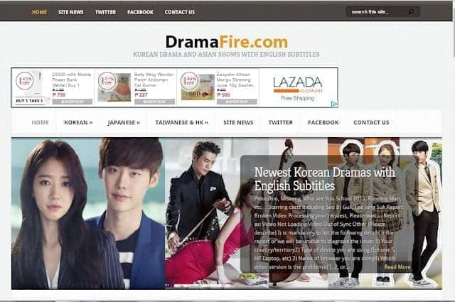 DramaFire Korean Drama website