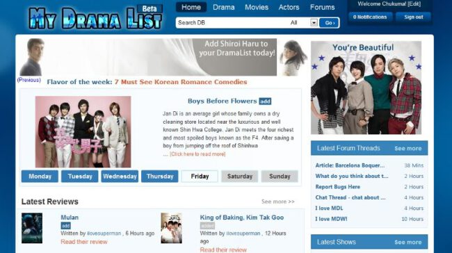 mydramalist Korean Drama website